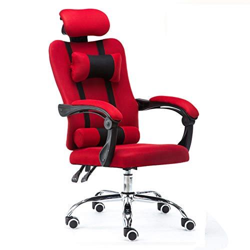 Ergonomics with Lumbar Support Professioneller Bürostuhl, ergonomischer Spielstuhl + anheblicher Chefsessel, Computerstuhl + drehbarer Bürostuhl für Büro, Hausgebrauch, Schwarz for Home and Work