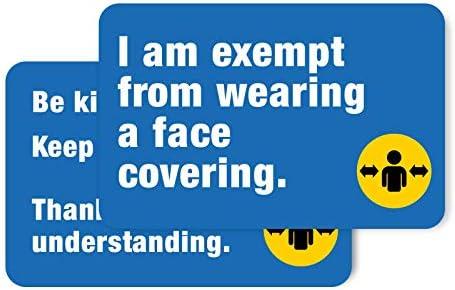 Vrijstelling van gezichtsafdekking Badge Card bus auto vrijgesteld 85x55mm harde plastic kaart Pack van 5blauw