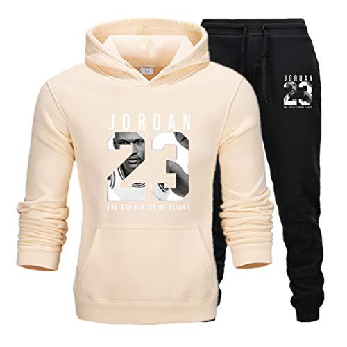 Herren 23# Jordan Pullover Performance Hoodie Sweatshirt Basketball Sportswear Trainingsanzug Set Jogginghose A L