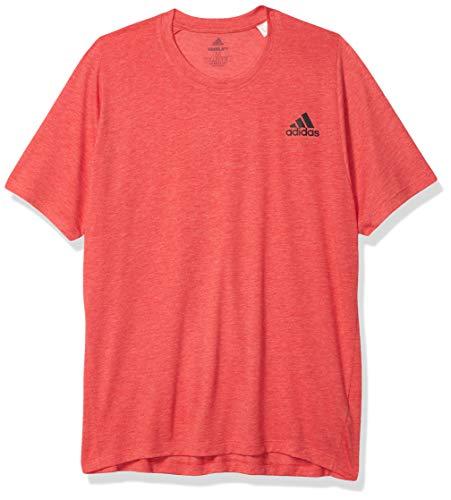 adidas Freelift_Sport Prime Heather tee Camiseta, Escarlata/Blanco, S para Hombre
