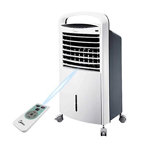 Piccolo Ventilatore Portatile Aria condizionata, Aria condizionata Mobile Ventilatore raffreddato ad Acqua con 7 Ore Timer casa dormitorio più Freddo - Bianco