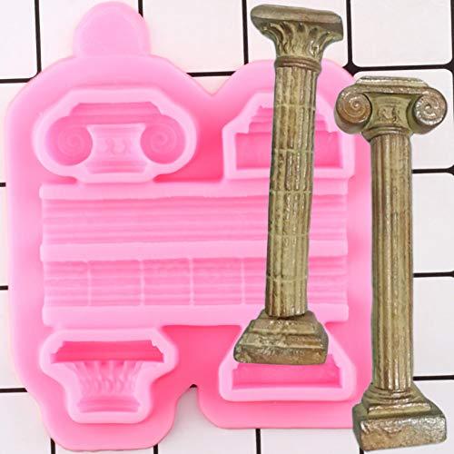 YTYASO Columnas Borde Moldes de Silicona Cupcake Topper Fondant Herramientas de decoración de Pasteles Galletas Hornear Dulces Moldes de Chocolate