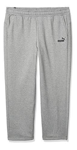 PUMA Men's Big & Tall Essentials Fleece Pants, Medium Gray Heather, 4XLT