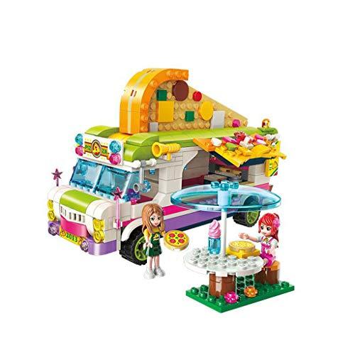 Siyushop City Pizza Sale Car, Fille Qui Assemble des Jouets, Jouets de Construction pour Fille, Jouets pour la Maison, Kit de Construction (414 pièces)