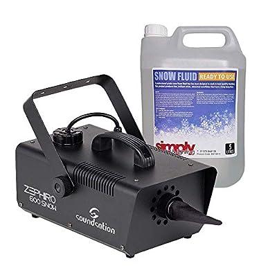 Soundsation Zephiro 600 Snow Machine High Power Snowing Effect 600W inc fluid