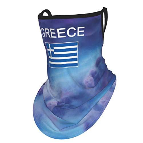MDFE - Funda para la cara de la bandera de Grecia, reutilizable, lavable, pasamontañas para ciclismo, deportes al aire libre