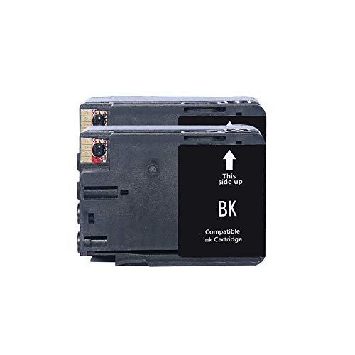 WSCA Für HP 932 933 Tintenpatrone, kompatibel mit HP OfficeJet 6100/6600/6700/7110/7510/7612 Drucker Vierfarb-Tintenstrahldrucker-2~Black