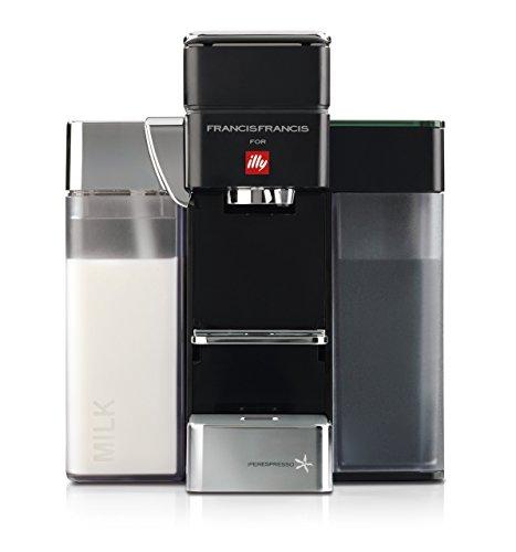 Francis Francis for Illy Y5 Milk Espresso and Coffee Machine Black by Francis Francis for illy (Generalüberholt)