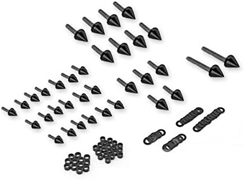 Krator Motorcycle New Shipping Free Spike Special Campaign Fairing Bolts Compatibl Black Kit Spiked