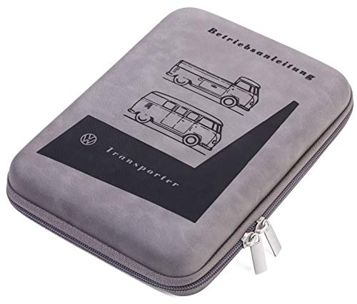 TROIKA TRAVEL CASE – CBO13/GB – Organizer-Etui für Fahrzeugpapiere – Official licensed by Volkswagen – Reißverschluss, 3 Innenfächer, 6 Elastikband-Schlaufen, 1 Stiftschlaufe – TROIKA-Original
