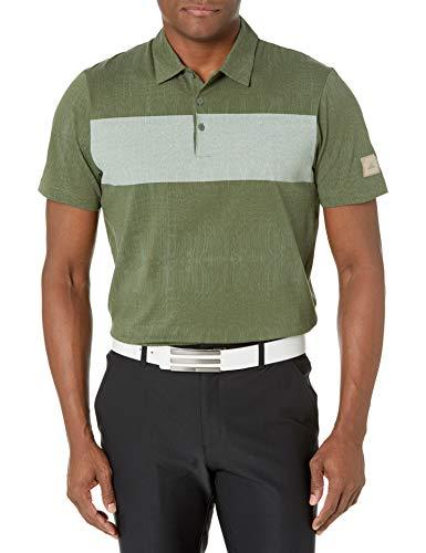 adidas Golf Men's Adicross Graphic Colorblocked Polo Shirt, Green, Medium