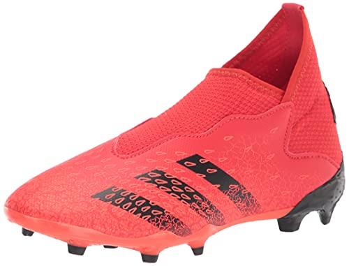 adidas Firm Ground Predator Freak .3 Laceless Soccer Shoe (boys) Red/Black/Solar Red 4 Big Kid