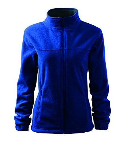 OwnDesigner by Adler Damen Elegante Fleecejacke Outdoor Pullover Fleece (Blau, XL)