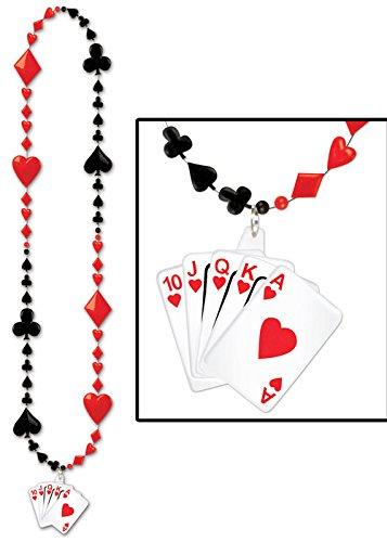 Collier de perles de carte à jouer Party Casino