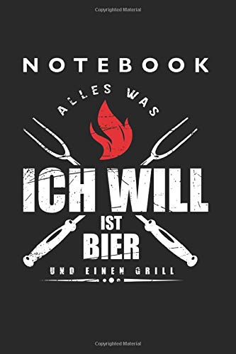 Beer and Grill Notebook: Lined College Ruled Notebook (9x6 inches, 120 pages): For School, Notes, Drawing, and Journaling