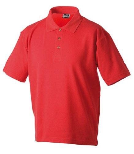 Unbekannt Medium Polo Tissu piqué, Tailles et de Nombreux Coloris Rouge foncé-Taille s