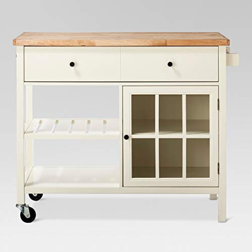 Windham Wood Top Kitchen Island Off-White - Threshold™