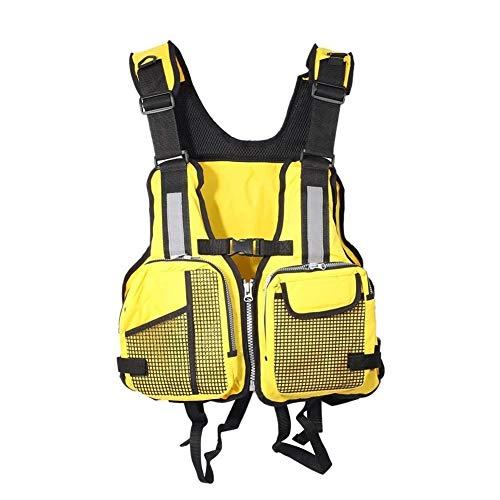 Chalecos Salvavidas Chaleco salvavidas adultos flotabilidad Chaleco salvavidas, chaqueta de Ayuda ajustable con bolsillos de múltiples for los hombres Las mujeres Pesca Vela Windsurf Surf Kayak Remo