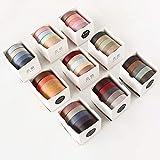 45 Rollos Cintas Adhesivas Washi Tape, Cinta Adhesiva Decorativa Diseño de estilo japonés para artes y manualidades, Embellecer revistas de balas, Planificadores, Scrapbooking