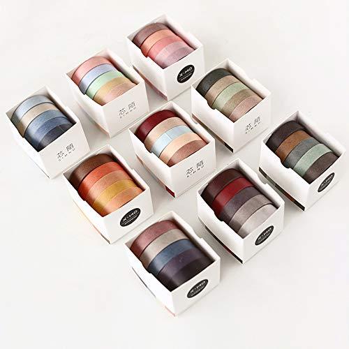 Vidillo Washi Tape Set, 45 Rollen dekorativer Klebstoff Washi Masking Tape Sticker im japanischen Stil für Kunst und Heimwerker, verschönern Bullet Journals, Planer, Scrapbooking