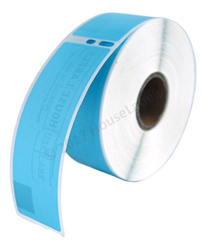 """2 Rolls; 350 Labels per Roll Compatible with DYMO 30252 Blue Address Labels (1-1/8"""" x 3-1/2"""") - BPA Free!"""
