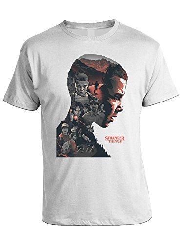 bubbleshirt Tshirt Stranger Things - Undici - 011 - Eleven - Dustin - Mike - Lucas - Joyce - Serie TV - Stranger Things 2