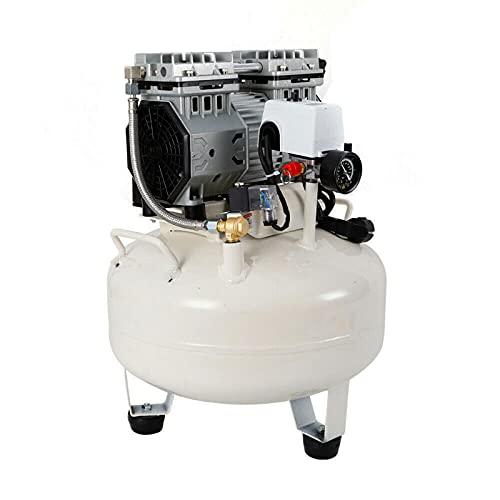 Compresor de aire a presión silencioso, 680 W, 30 L, solo 50 dB, ultra silencioso, sin aceite, compresor de pistón, 50 l/min, 230 V