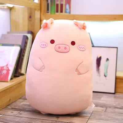 qingci Animal de Dibujos Animados Almohada para Dormir Almohada Larga cabecera Cama Almohada 60 cm Cerdo