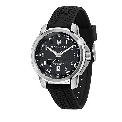 Maserati Reloj para Hombre, Colección Successo, en Acero Inoxidable, Silicona, con Correa de Silicona - R8851121014