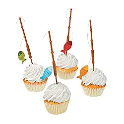 Fisherman Fishing Pole Cupcake Picks