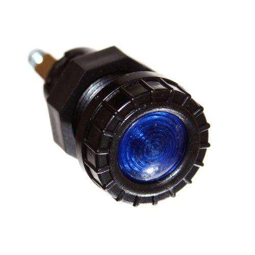 1x Kontrolllampe BLAU 12V Eibau Leuchte 17mm Loch Neu Fernlicht Anzeige Beleuchtung schwarz Old-Harvest