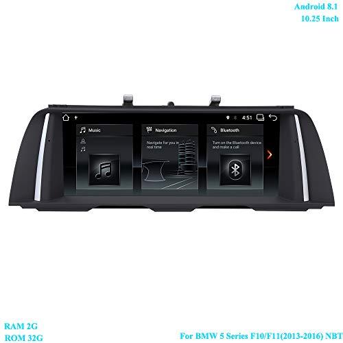 XISEDO 10.25 Pollici Schermo Android 8.1 Autoradio 6-Core RAM 2G ROM 32G Navigazione GPS supporta Controllo del volante, WiFi, Bluetooth per BMW Serie 5 F10 / F11 (2013-2016) Sistema NBT Originale