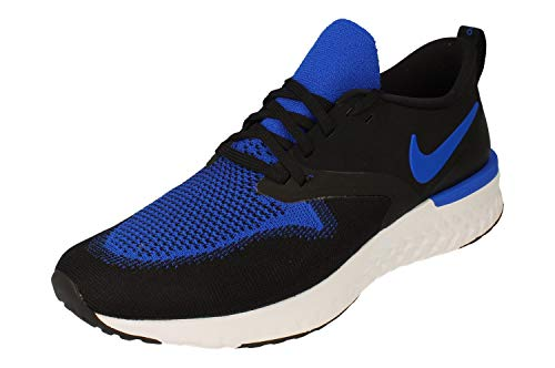 Nike Herren Odyssey React 2 Flyknit Traillaufschuh, Black/Racer Blue-White, 45.5 EU,45.5 EU