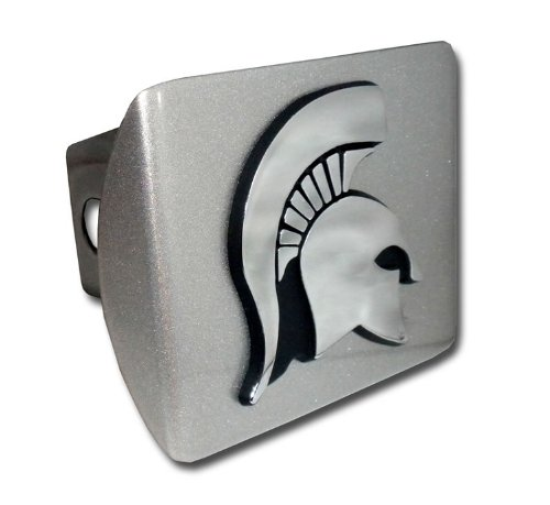 Michigan State Spartan Head Silver Hitch Cover