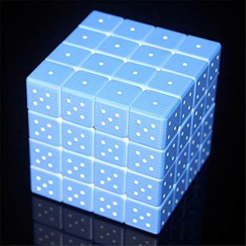 Cubo de Gama Alta Impresión UV Blind Braille Huella Digital Estéreo Cuarto Orden 4 * 4 Cubo 3D Personalidad en Relieve Rompecabezas para niños Juguete