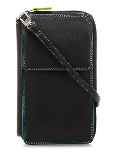 mywalit - leder damen Geldbörse - zip around multi purse - 1220-4 - black pace