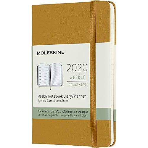 Moleskine 12 Mesi 2020 Agenda Settimanale, Copertina Rigida e Chiusura ad Elastico, Colore Giallo Maturo, Dimensione Pocket 9 x 14 cm, 144 Pagine