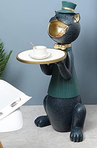 Mopoq Creative Light Luxury Multifuncional Lucky Gato con aterrizaje de bandejas Decoraciones a gran escala Moderna sala de estar Luz Lujo Muebles para el hogar Apertura de suma de casa Regalo nuevo e