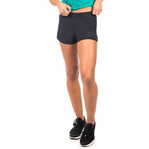 GYM AESTHETICS Two in One Shorts Diversity 2-Layer Damen Schwarz (L)