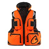 Fishing Vest with Multiple Pockets, Breathable Mesh Fishing Clothes Waterproof Life Jacket for Adults Men and Women,L
