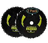 KAKO (2-Set) 9' x 20T Chainsaw Tooth Brush Blades for Cutter, Trimmer, Weed Eater