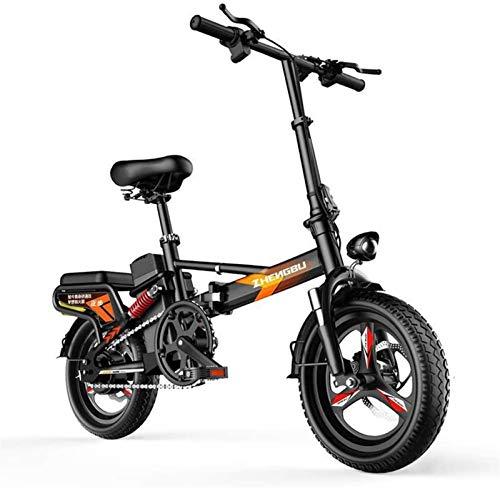 Bici elettrica, 14 'Bike pieghevole per bici elettriche, bicicletta elettrica in alluminio da 400W, bicicletta pieghevole portatile con schermo elettronico, per adulti e adolescenti Batteria al litio