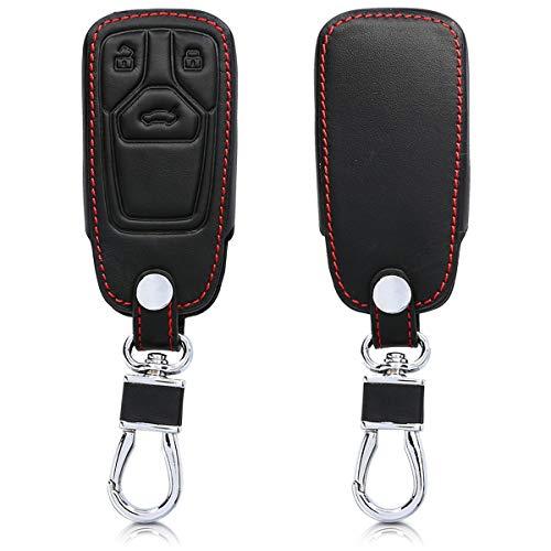 kwmobile Funda Compatible con Audi Llave de Coche Smartkey de 3 Botones (Solo Keyless Go) - Cubierta