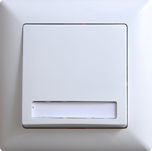 Visage Klingeltaster mit Namensschild Unterputz Weiß, gunsan, 01281100200112, 12V
