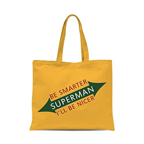 XXT Umweltschutz-Beutel-Retro- Nette eine Schulter Tasche Stoff Umweltschutz Tasche (Color : Yellow, Size : 40 * 45cm)