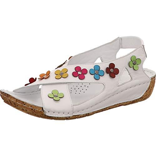 Gemini 032315-02 Comfort Damen Sandalen Sandaletten, Schuhgröße:39 EU, Farbe:Weiß