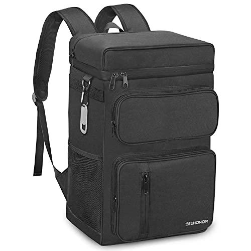 Insulated Cooler Backpack Leakproof Backpack Cooler 45 Can Large Soft Cooler Bag...