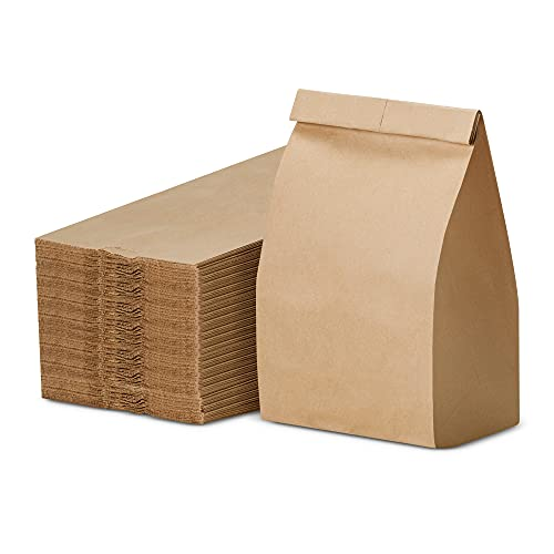 lunch sacks Paper Lunch Bags, Paper Grocery Bags, Durable Kraft Paper Bags, Pack Of 500 Bags (3 LB, Brown)