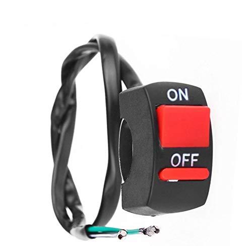 Inicio botón, para cambiar de coche de seguridad Interruptor de la motocicleta del interruptor del manillar luz de niebla botón ON-OFF 12VDC for U5 U7 LED de la lámpara principal Angel Eyes ligero, fá