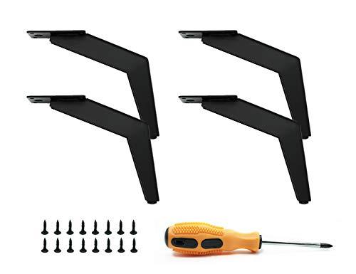 4 Stück schwarze austauschbare Tischbeine, DIY Metall Möbelbeine, geeignet für Schrank, Sofa, Couchtisch, TV-Schrank und andere Möbelfüße.(15 cm)